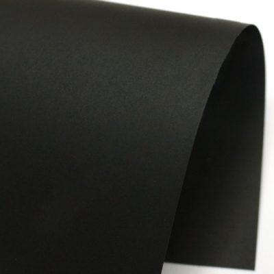 "Гладкая дизайнерская бумага ""Испира"", цвет черный, 30х30 см, 250 г/м2."