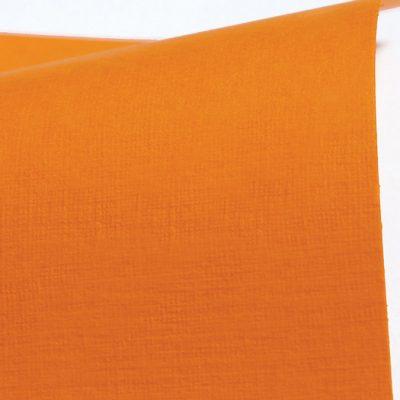 """Дизайнерская бумага с тиснением """"Сирио"""", цвет оранжевый, 30х30 см, 290 г/м2."""