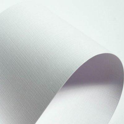 """Дизайнерская бумага с тиснением лен """"Престиж"""", цвет белый, 30х30 см, 280 г/м2."""