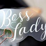 """Надпись из термотрансфера """"Boss Lady"""", 11*7 см."""