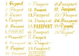 Готовая надпись из термотрансферной пленки для скрапбукинга passport