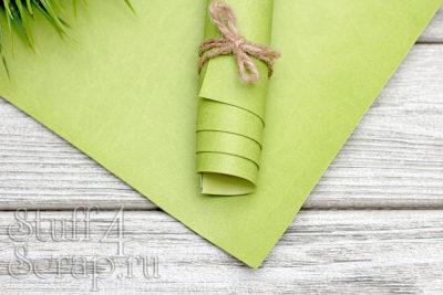 """Переплетный кожзам """"Светло зеленый"""", матовый, 25*35 см"""