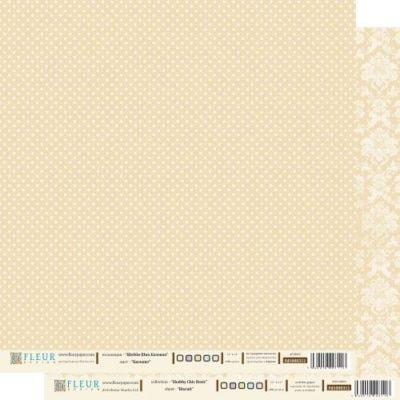 """Лист бумаги """"Бисквит"""", коллекция """"Шебби Шик Базовая"""" (Fleur design), 30х30 см"""