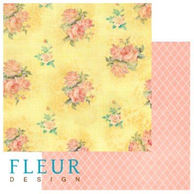 """Лист бумаги """"Цветущее поле"""", коллекция """"Следуй за мечтой"""" (Fleur design), 30х30 см"""