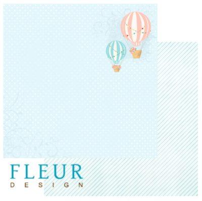 """Лист бумаги """"Стремление к солнцу"""", коллекция """"Следуй за мечтой"""" (Fleur design), 30х30 см"""