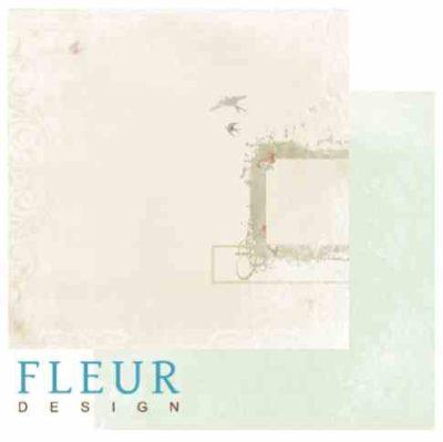 """Лист бумаги """"Поющие птицы"""" , коллекция """"Цветущая весна"""" (Fleur design), 30х30 см"""