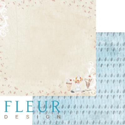 """Лист бумаги """"Сладкое"""", коллекция """"Вишневый десерт"""" (Fleur design), 30х30 см"""