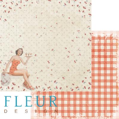 """Лист бумаги """"Хозяйка"""", коллекция """"Вишневый десерт"""" (Fleur design), 30х30 см"""
