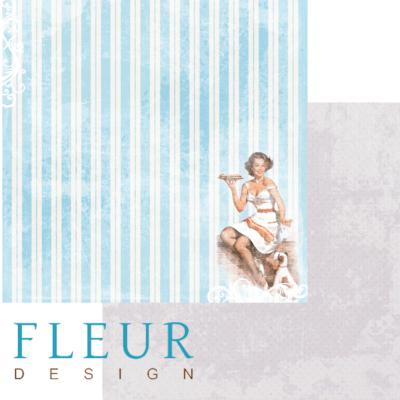 """Лист бумаги """"Пирог"""", коллекция """"Вишневый десерт"""" (Fleur design), 30х30 см"""