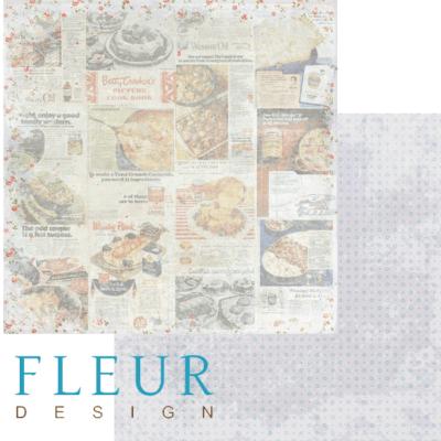 """Лист бумаги """"Рецепты"""", коллекция """"Вишневый десерт"""" (Fleur design), 30х30 см"""