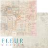 """Лист бумаги """"Старое кафе"""", коллекция """"Вишневый десерт"""" (Fleur design), 30х30 см"""