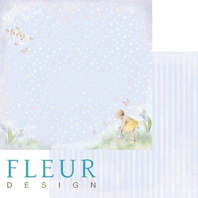 """Лист бумаги """"Любимая игрушка"""", коллекция """"Девочки"""" (Fleur design), 30х30 см"""
