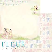 """Лист бумаги """"Веселье"""", коллекция """"Девочки"""" (Fleur design), 30х30 см"""