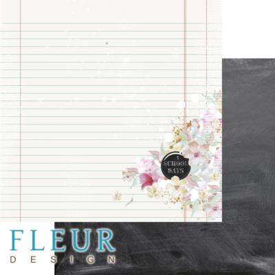 """Лист бумаги """"Школьная доска"""", коллекция """"Моя школа"""" (Fleur design), 30х30 см"""