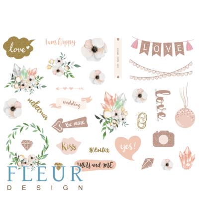 """Лист для вырезания коллекция """"Скажи """"Да""""!""""  (Fleur design), А4"""
