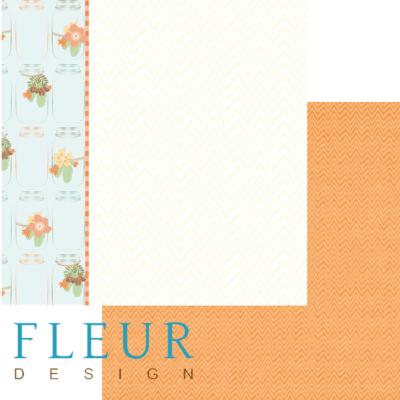 """Лист бумаги """"Запасы"""", коллекция """"Дыхание осени"""" (Fleur design), 30х30 см"""