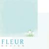 """Лист бумаги """"Подснежник"""", коллекция """"Зарисовки весны"""" (Fleur design), 30х30 см"""