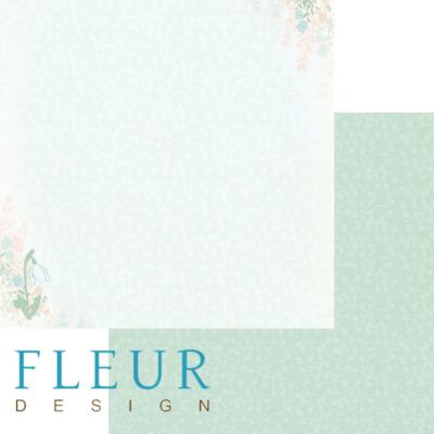 """Лист бумаги """"Утро"""", коллекция """"Зарисовки весны"""" (Fleur design), 30х30 см"""