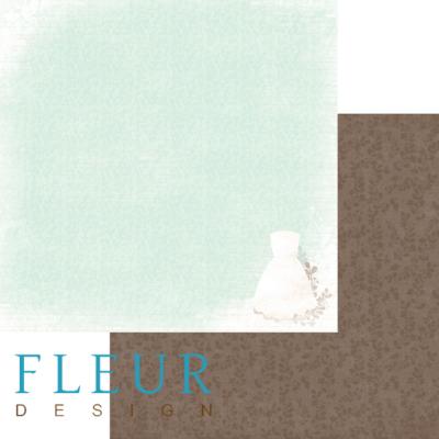 """Лист бумаги """"Невеста"""", коллекция """"Наша свадьба"""" (Fleur design), 30х30 см"""