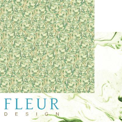 "Лист бумаги ""Суккуленты"", коллекция ""Мой сад"" (Fleur design), 30х30 см"