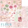 """Лист бумаги """"Элементы"""", коллекция """"Мой сад"""" (Fleur design), 30х30 см"""