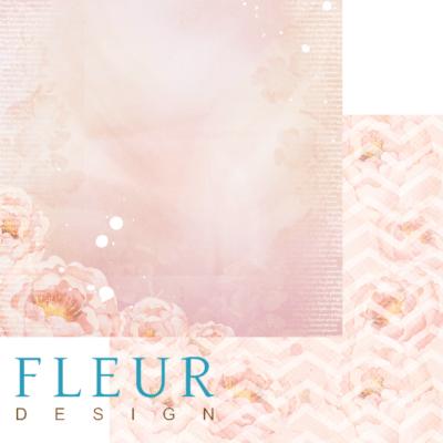 """Лист бумаги """"Пионовая мечта"""", коллекция """"Мой сад"""" (Fleur design), 30х30 см"""