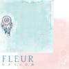 """Лист бумаги """"Ловец снов"""", коллекция """"Веление сердца"""" (Fleur design), 30х30 см"""