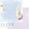 """Лист бумаги """"Дивный сад"""", коллекция """"Веление сердца"""" (Fleur design), 30х30 см"""