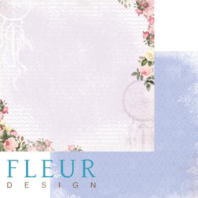 """Лист бумаги """"Зарисовки"""", коллекция """"Веление сердца"""" (Fleur design), 30х30 см"""