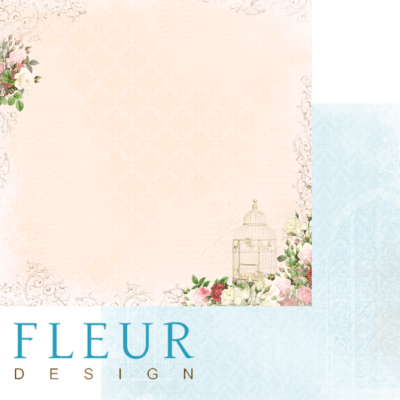 """Лист бумаги """"Сладкий ваниль"""", коллекция """"Веление сердца"""" (Fleur design), 30х30 см"""