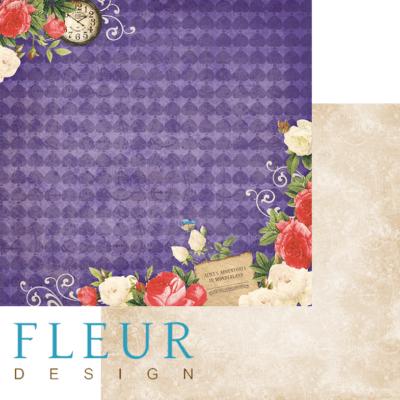 """Лист бумаги """"Алиса"""", коллекция """"В стране чудес"""" (Fleur design), 30х30 см"""