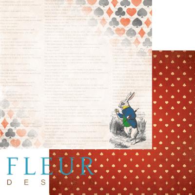 """Лист бумаги """"Кролик"""", коллекция """"В стране чудес"""" (Fleur design), 30х30 см"""