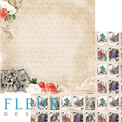 """Лист бумаги """"История"""", коллекция """"В стране чудес"""" (Fleur design), 30х30 см"""