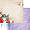 """Лист бумаги """"Безумное чаепитие"""", коллекция """"В стране чудес"""" (Fleur design), 30х30 см"""