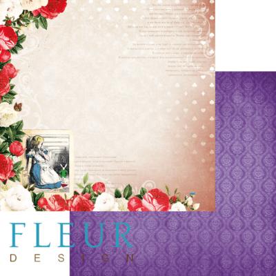 """Лист бумаги """"Зазеркалье"""", коллекция """"В стране чудес"""" (Fleur design), 30х30 см"""
