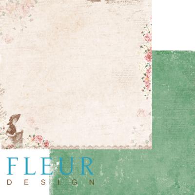 """Лист бумаги для скрапбукинга """"Новый день"""", коллекция """"Забытое лето"""" (Fleur design), 30х30 см"""