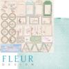 """Лист бумаги для скрапбукинга """"Теги"""", коллекция """"Забытое лето"""" (Fleur design), 30х30 см"""