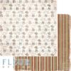 "Лист бумаги ""Подарки"", коллекция ""Зима винтажная"" (Fleur design), 30х30 см"