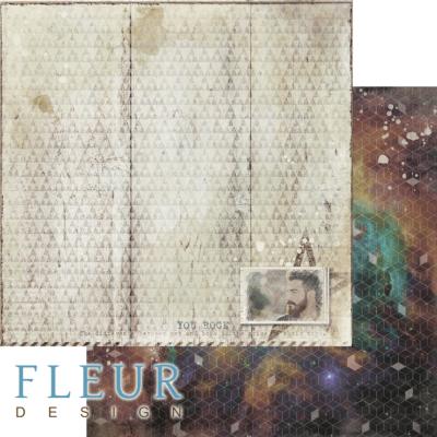 """Лист бумаги """"Виталик"""", коллекция """"Ты мой космос"""" (Fleur design), 30х30 см"""