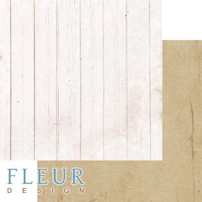 """Лист бумаги """"Беленый забор"""", коллекция """"Backstage"""" (Fleur design), 30х30 см"""