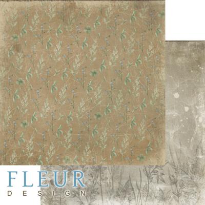 "Лист бумаги ""Травы"", коллекция ""Дары полей"" (Fleur design), 30х30 см"