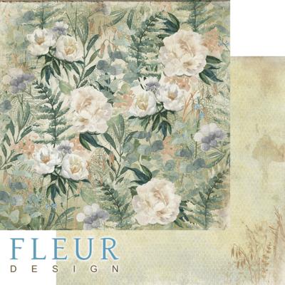 """Лист бумаги """"Полевые цветы"""", коллекция """"Дары полей"""" (Fleur design), 30х30 см"""