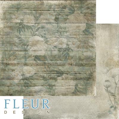 """Лист бумаги """"Заброшенный дом"""", коллекция """"Дары полей"""" (Fleur design), 30х30 см"""