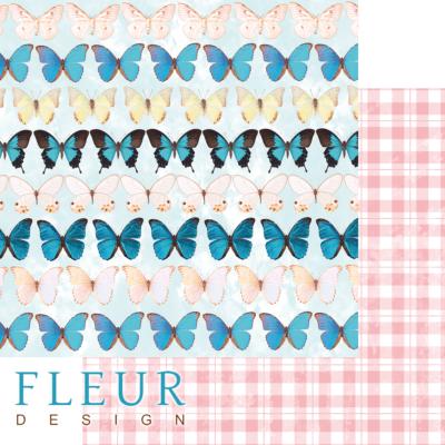"Лист бумаги ""Бабочки"", коллекция ""Твори"" (Fleur design), 30х30 см"