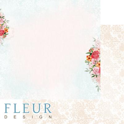 """Лист бумаги """"Воздушное кружево"""", коллекция """"Зефир"""" (Fleur design), 30х30 см"""