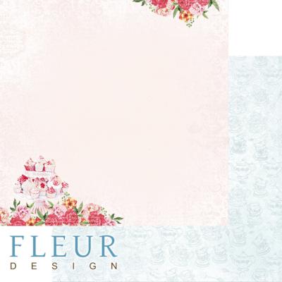 """Лист бумаги """"Маленькие слабости"""", коллекция """"Зефир"""" (Fleur design), 30х30 см"""