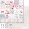 """Лист бумаги """"Надписи"""", коллекция """"Зефир"""" (Fleur design), 30х30 см"""