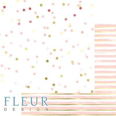 "Лист бумаги ""Нежное конфетти"", коллекция ""Pretty pink"" (Fleur design), 30х30 см"