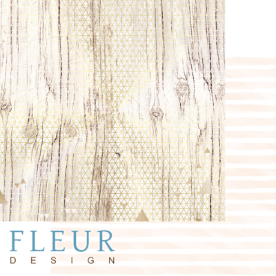 "Лист бумаги ""Золото на дереве"", коллекция ""Pretty pink"" (Fleur design), 30х30 см"