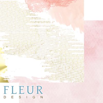 """Лист бумаги """"Ты и я"""", коллекция """"Pretty pink"""" (Fleur design), 30х30 см"""